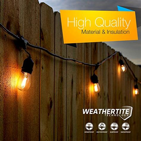 commercial grade string lights outdoor brightech ambience pro led outdoor weatherproof commercial