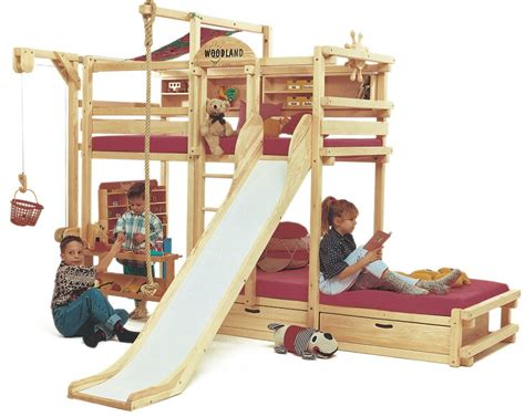 play beds play bunk beds for large families from woodland kidsomania