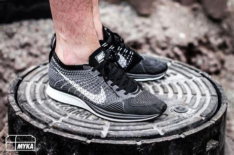 Nike Flyknit Racer Maroon Black nike flyknit racer grey white black by