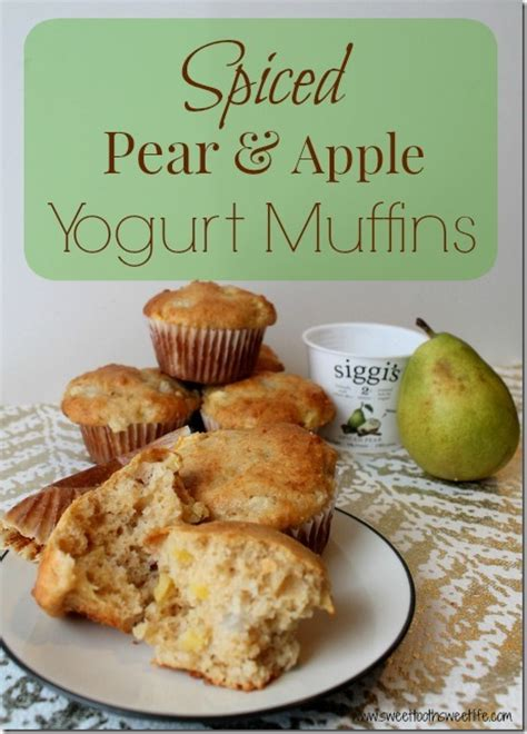 apple yogurt muffins spiced pear and apple yogurt muffins
