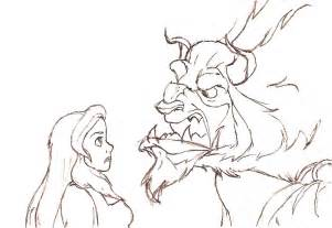 beauty and the beast sketch by marykms on deviantart