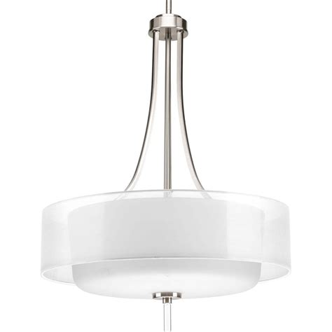 progress lighting gather collection 2 light brushed nickel