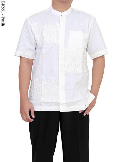 Baju Koko Koko Putih Bordir jual baju koko albatar putih polos lengan pedek baju koko