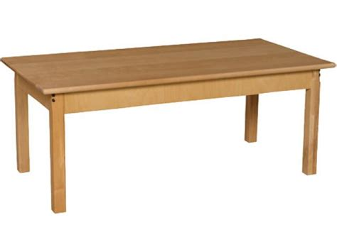 rectangle hardwood table 24x48x19 quot h preschool tables