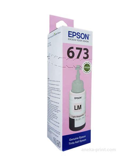 Tinta Epson L800 L1800 L805 L850 Ligth Magenta 673 T6736 Ready tinta epson l800