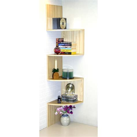 Maple Corner Shelf by Maple Or Cherry Corner Staggered Shelf