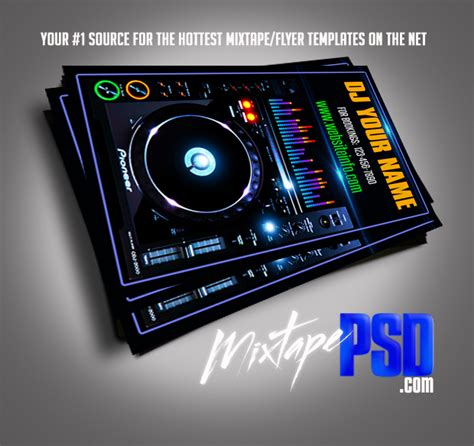 dj business card template psd business card psd template by mixtapepsd on deviantart