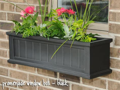 pvc window box promenade window box black vinyl window boxes window