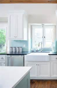 Blue Backsplash Kitchen Tiffany Blue Design Ideas