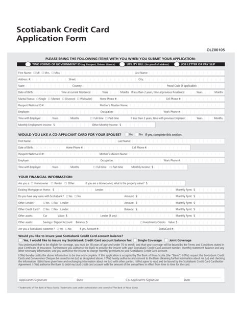 Bank Of Scotia Letter Of Credit Scotiabank Credit Card Application Form Canada Free