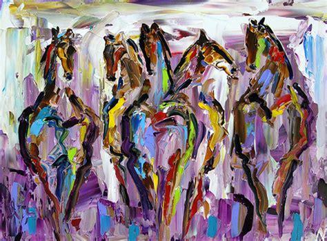 cuadros pintados a espatula im 225 genes arte pinturas caballos con espatula color y