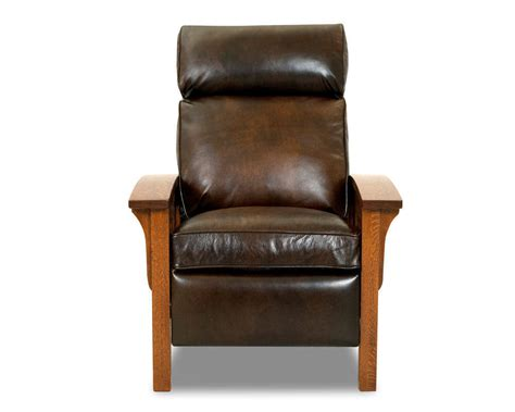 stylish recliner mission style leather sofa rooms
