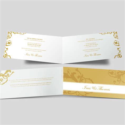 Hochzeitseinladung Ornament by Hochzeitseinladung Vintage Ornamente Goldgelb