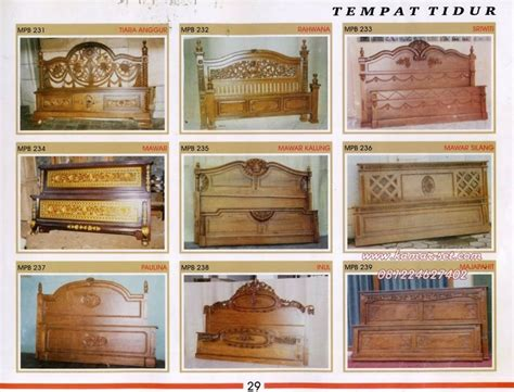 Ranjang Kayu Jepara jual ranjang kayu jati murah kamar set