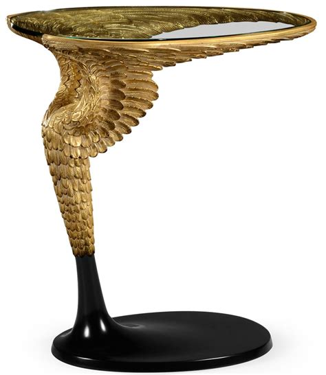 round table wing empire style flying wing side table