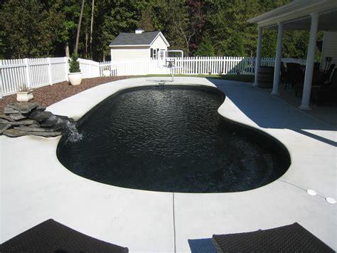 Black In Backyard by Black Fiberglass Swimming Pool San Juan Pools Of