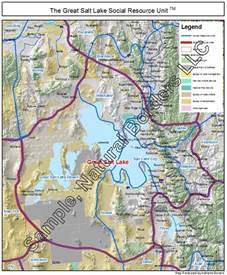 great salt lake map social resource units of the western usa