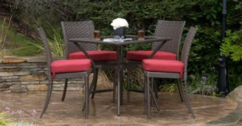 mainstays crossman 7 patio dining set green seats 6 349 34 quot table better homes and gardens rushreed height 5 patio dining set seats 4