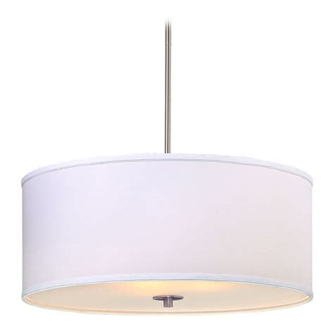Drum Shades For Pendant Lights Large Modern Drum Pendant Light With White Shade Ebay