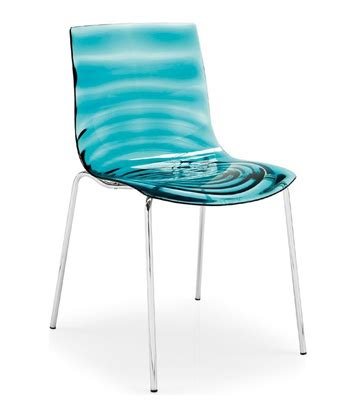 Water Chair by Re 30155 Acrylic Blue Ripple Water Chair