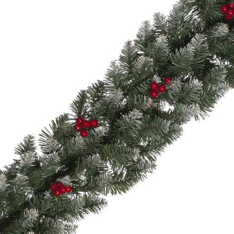 festive frosted berry garland 240cm on sale fast