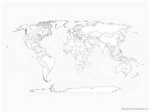World Map Outline With States by Vector Map Of World With Countries And Us Canadian And Australian States Outline Free