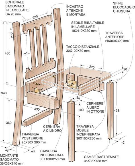 sedie pieghevoli legno come costruire una sedia pieghevole in legno massello
