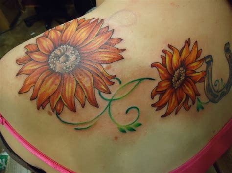 sunflower vine tattoo designs 35 tremendous sunflower designs slodive