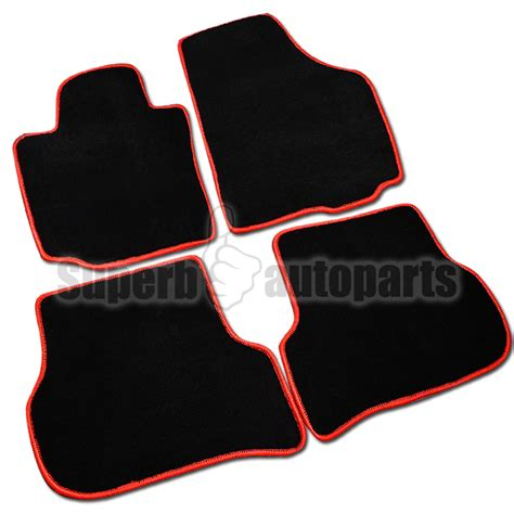 Gti Floor Mats by 05 09 Vw Golf Gti Mk5 Carpet Floor Mats Stitch Trim 4pc Ebay