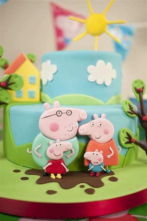 peppa pig fiesta de 8448836464 ideas fiesta de cumplea 241 os de peppa pig pig party cake and george pig