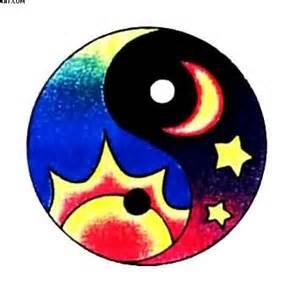 colorful yin yang colorful ying yang multi color ying yang model