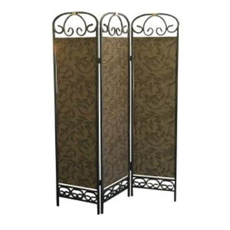 home decorators collection 6 ft gold 3 panel room divider
