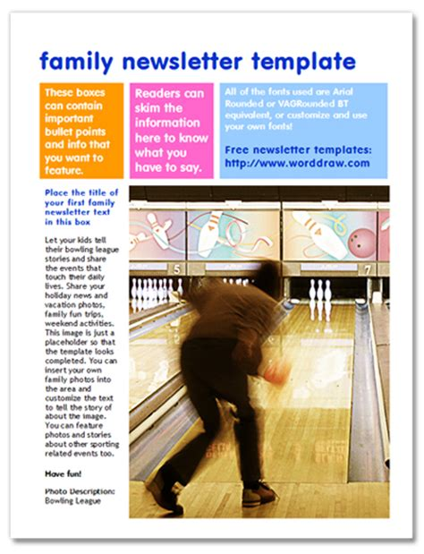 family newsletter template family newsletter templates word search results