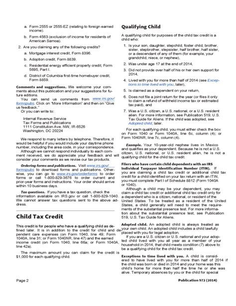 Child Tax Credit Application Form Child Tax Credit Form Free
