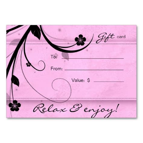 10 best images of pink blank gift certificate template