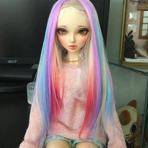 tutorial wig bjd balljointeddoll dolls bjd minifee on instagram