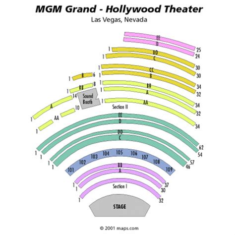 Mgm Grand Las Vegas Floor Plan hollywood theater at mgm grand seating chart hollywood