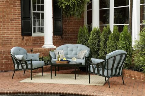 patio furniture seating sets chandler 4 outdoor seating set traditional