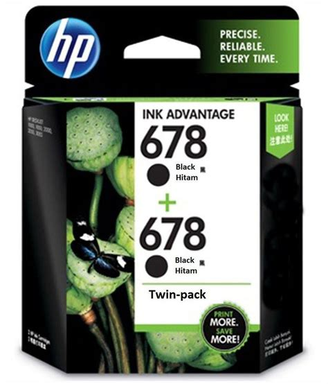 Hp 678 Ink Catridge Tinta Black Colour 100 Original Berkualitas hp 678 black ink cartridge pack of 2 pack buy hp 678 black ink cartridge pack of 2