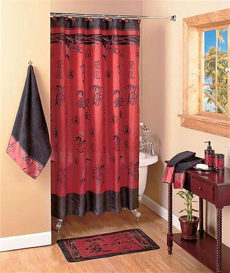 20 pcs set asian bamboo bathroom shower curtain and bath
