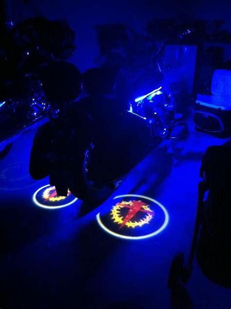 led ghost lights led ghost rider lights for motorcycles custom logo
