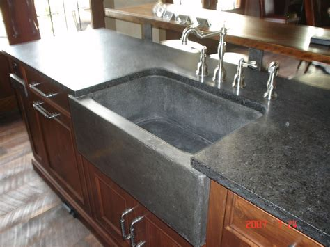 Custom Made Kitchen Sinks Crafted Farm Sink And Slab By Rock And A Place Concrete Custommade