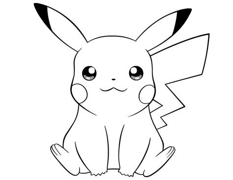coloring pages of pokemon pikachu pikachu coloring pages print color craft
