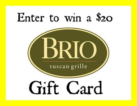 enter to win a 20 brio gift card ends 2 25 16 giveaways - Brio Gift Card Deals