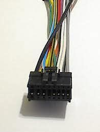 pioneer car stereo wire audio wiring harness  pin ebay