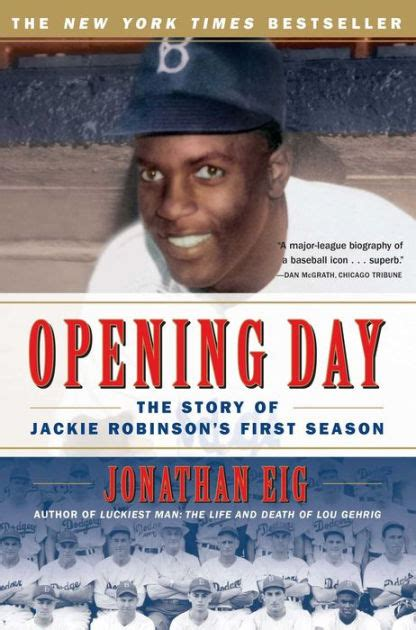 jackie robinson picture book opening day the story of jackie robinson s season