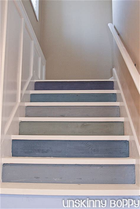 pretty painted stairs by beth unskinny boppy diy show diy decorating and home