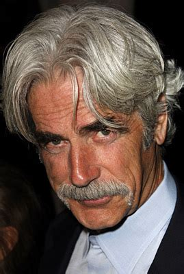 rugged voice sam elliott while i his rugged looks and you can never go wrong with the stach what