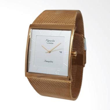 Jam Tangan Fashion Tali Pasir Gold jual alexandre christie analog tali pasir jam tangan pria