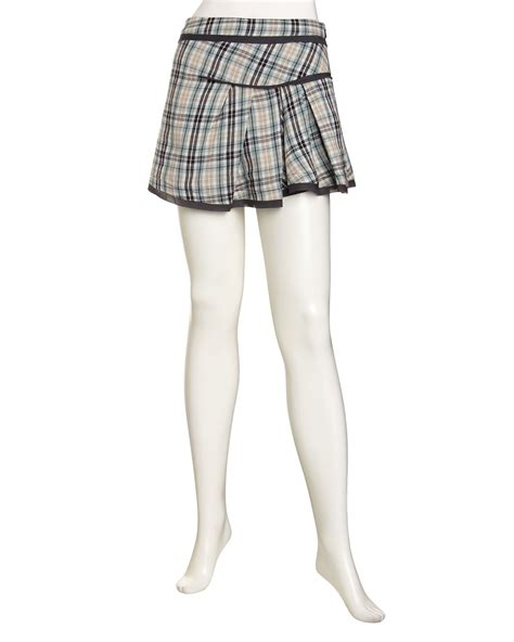 free plaid pleated skirt in blue sea foam lyst